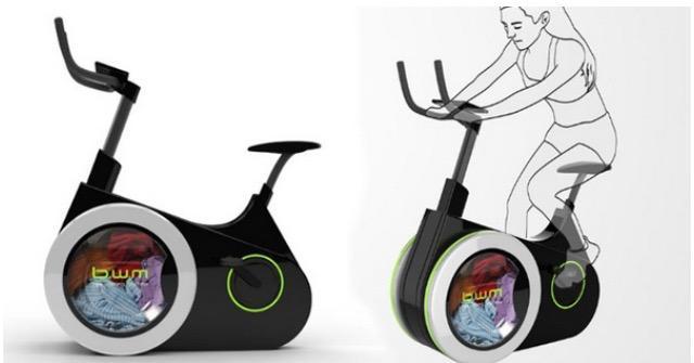 ورزش و شستشوی همزمان با دوچرخه شگفت انگیز دوستدار محیط زیست