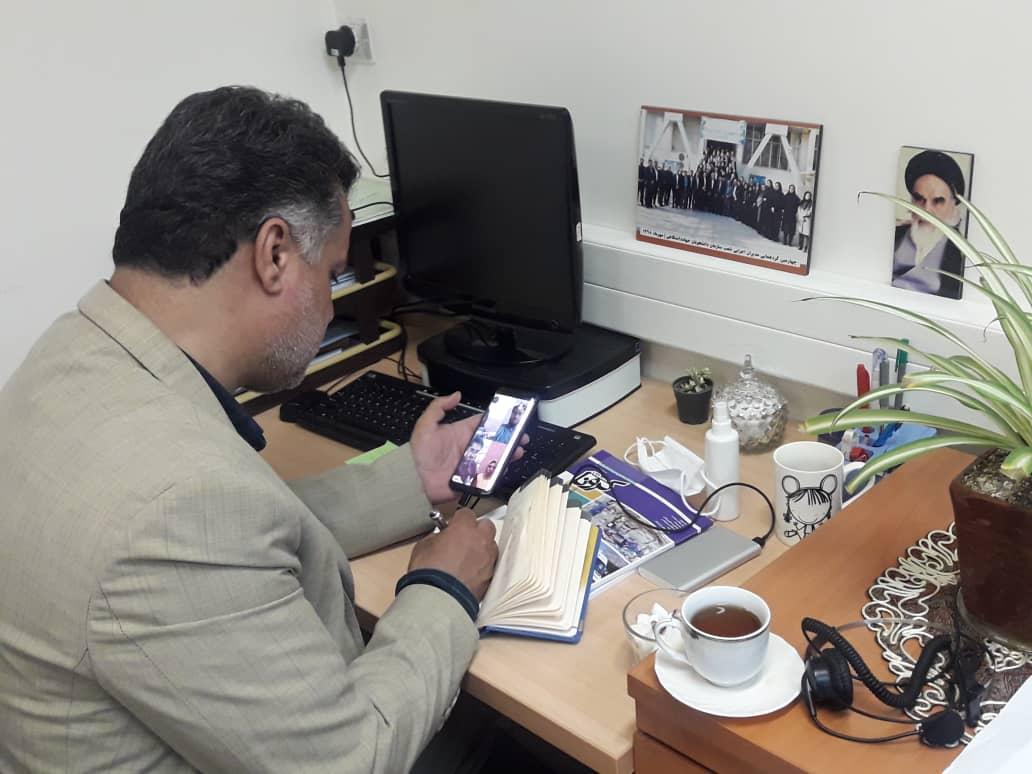 نشست مجازی رییس جهاد دانشگاهی علوم پزشکی تهران با فعالان دانشجویی